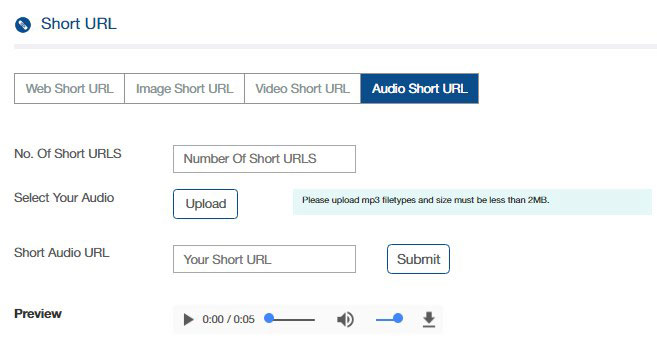 SMS with Short URL Sending User Guide - Smsstriker com